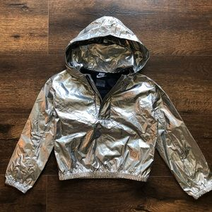 Nike Girls 4T metallic windbreaker jacket